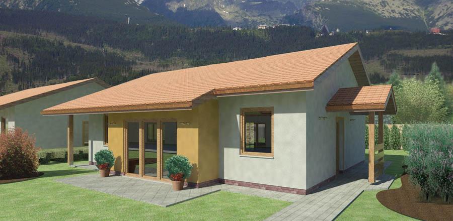 Nizkoenergeticky dom Eco 103 b Ecostav 900x440 Montovaný dom ECO   103