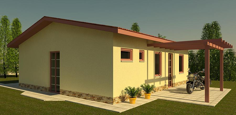 Nizkoenergeticky dom Eco 104 b Ecostav 900x440 Montovaný dom ECO   104