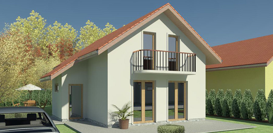 Nizkoenergeticky dom Eco 105 a Ecostav 900x440 Montovaný dom ECO   105