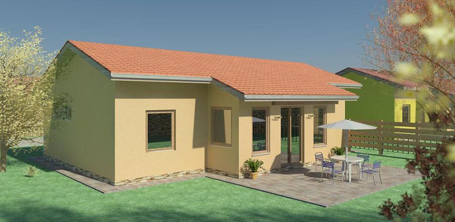 Nizkoenergeticky dom Eco 106 b Ecostav 900x440 Montovaný dom ECO   106