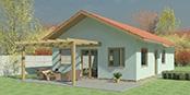 Nizkoenergeticky dom Eco 107 a Ecostav nav Montovaný dom ECO   106