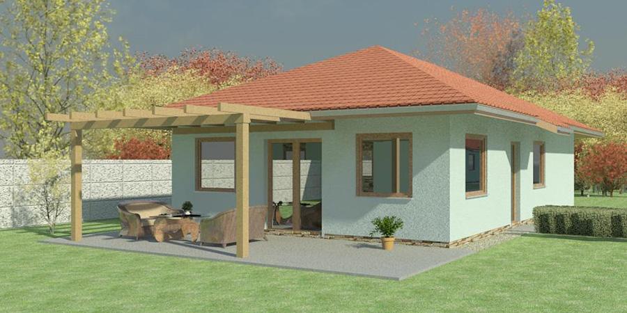 Nizkoenergeticky dom Eco 108 juh Ecostav