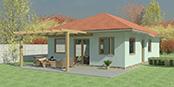 Nizkoenergeticky dom Eco 108 a Ecostav nav Montovaný dom ECO   107