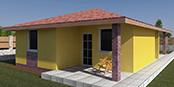 Nizkoenergeticky dom Eco 109 a Ecostav nav Montovaný dom ECO   108