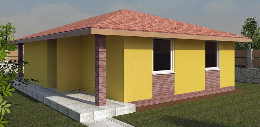 Nizkoenergeticky dom Eco 109 b Ecostav 900x440 Montovaný dom ECO   109
