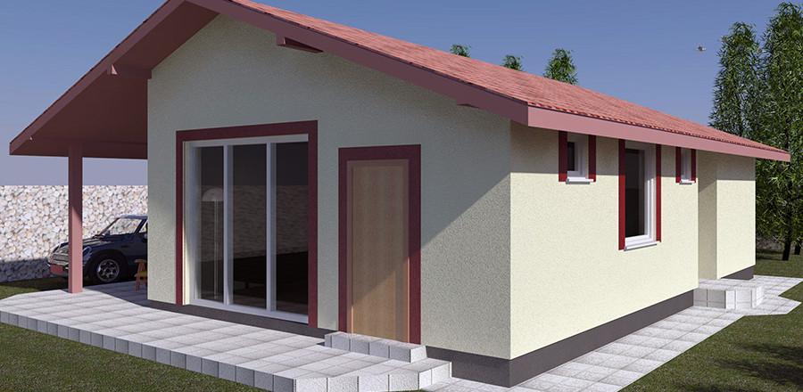 Nizkoenergeticky dom Eco 110 b Ecostav 900x440 Montovaný dom ECO   110