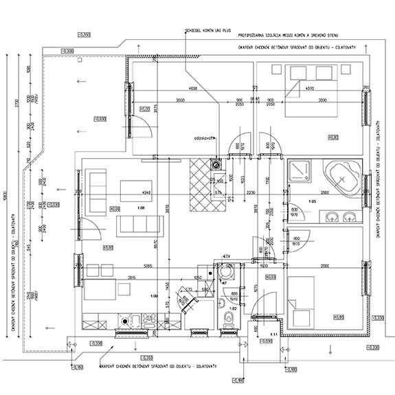 Nizkoenergeticky dom Eco 112 podorys Ecostav Montovaný dom ECO   112