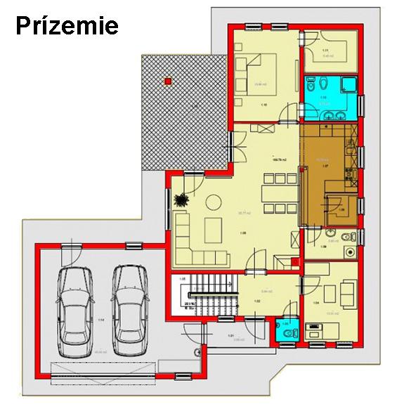 Nizkoenergeticky dom Eco 113 podorys Ecostav1 Montovaný dom ECO   113