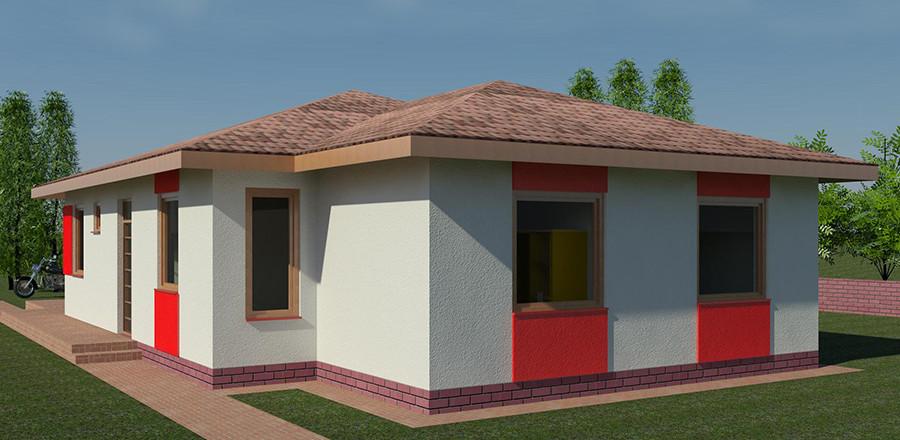 Nizkoenergeticky dom Eco 115 b Ecostav 900x440 Montovaný dom ECO   115