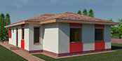 Nizkoenergeticky dom Eco 115 b Ecostav nav Montovaný dom ECO   114