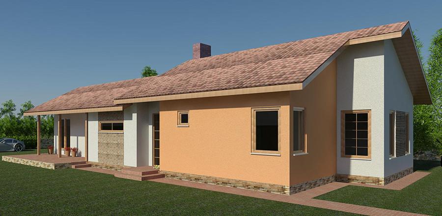 Nizkoenergeticky dom Eco 118 b Ecostav 900x440 Montovaný dom ECO   118
