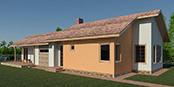 Nizkoenergeticky dom Eco 118 b Ecostav nav Montovaný dom ECO – 119
