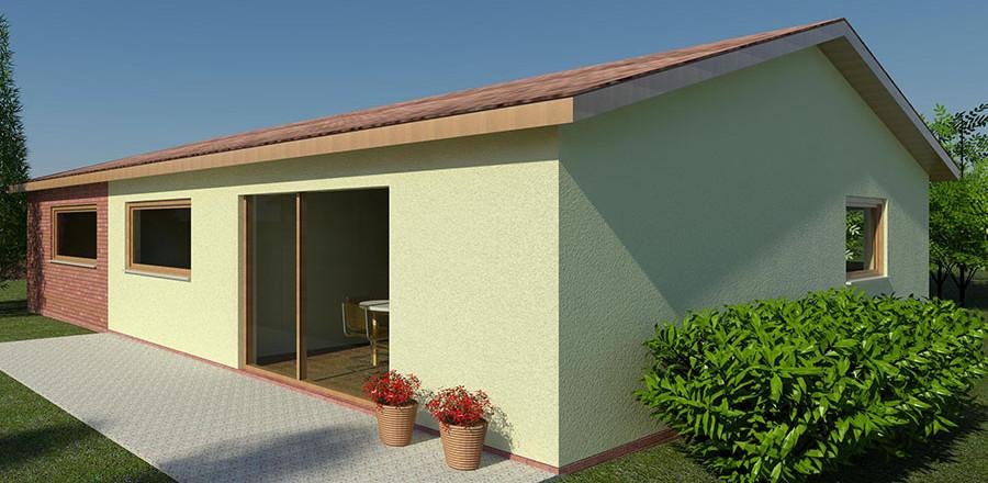 Nizkoenergeticky dom Eco 119 juh Ecostav 900x440 Montovaný dom ECO – 119