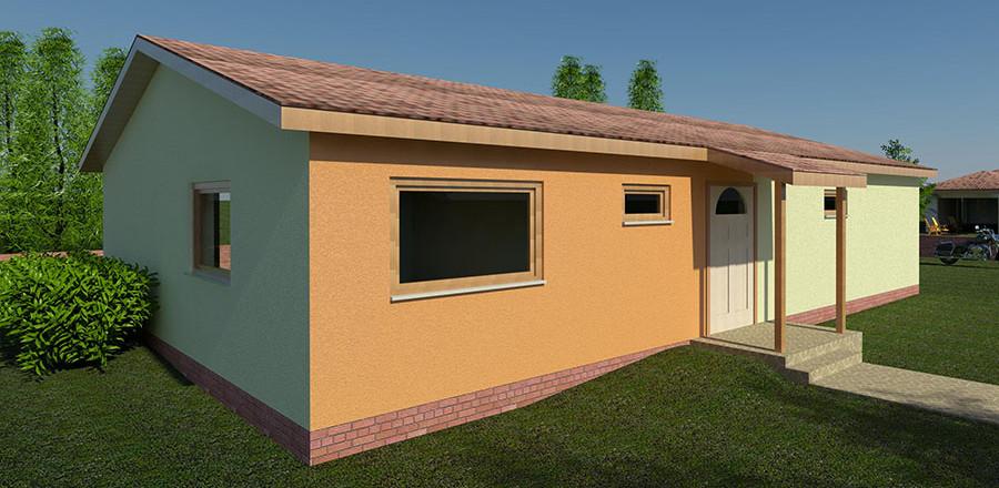 Nizkoenergeticky dom Eco 119 sever Ecostav 900x440 Montovaný dom ECO – 119