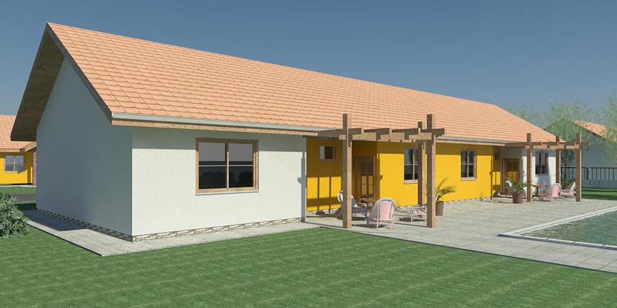 Nizkoenergeticky dom Eco Twin b Ecostav Montovaný dom Modern   101