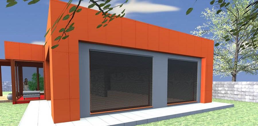 zapadny pohlad montovany dom modern 101 900x440 Montovaný dom Modern   101