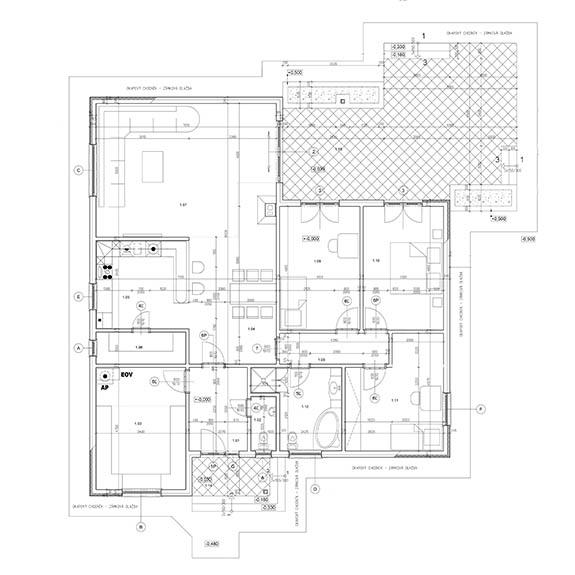 montovany dom eco 120 podorys Montovaný dom ECO   120
