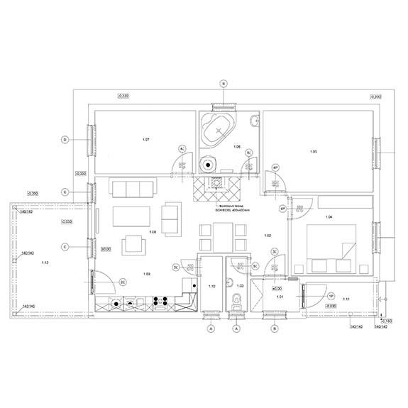 montovany dom eco 121 podorys Montovaný dom ECO   121