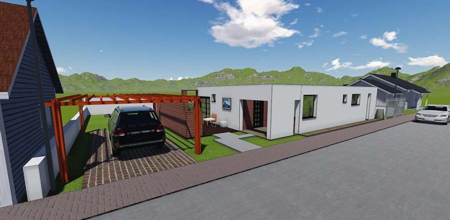 montovany dom modern 104 a 900x440 Montovaný dom Modern – 104