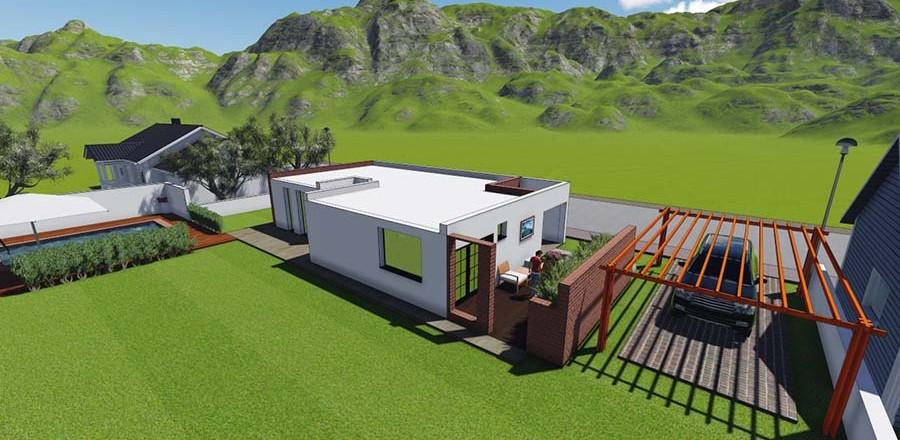 montovany dom modern 104 d 900x440 Montovaný dom Modern – 104