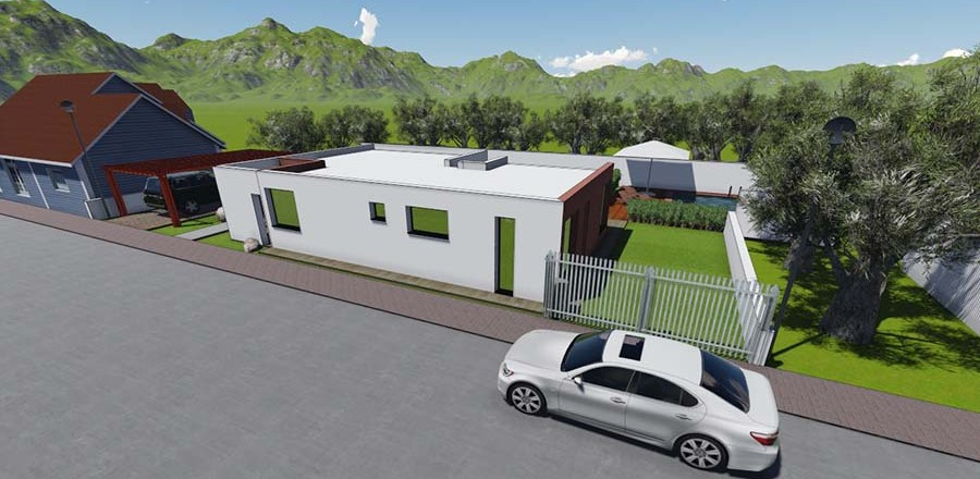 montovany dom modern 104 f 900x440 Montovaný dom Modern – 104