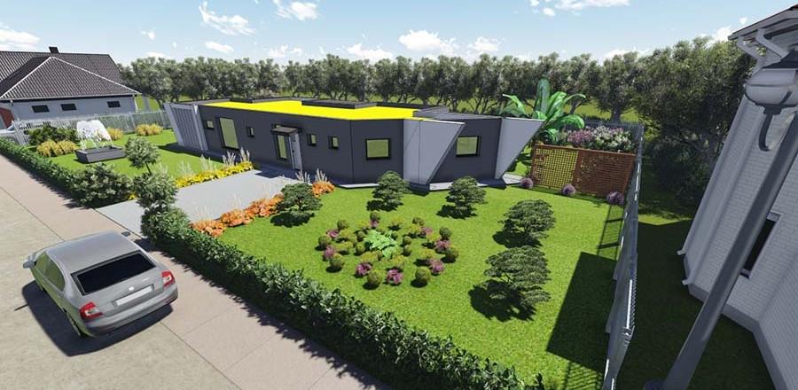 montovany dom modern 107 a 900x440 Montovaný dom Modern – 107